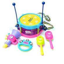 New 1Pc Enlightment 5pcs Designer Musical Instrument Interactive Drum Band Toy Set Popular Children Toy(China)