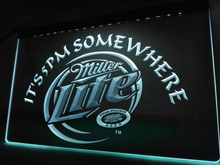 LA407- Miller Lite It's 5 pm Somewhere   LED Neon Light Sign     home decor  crafts