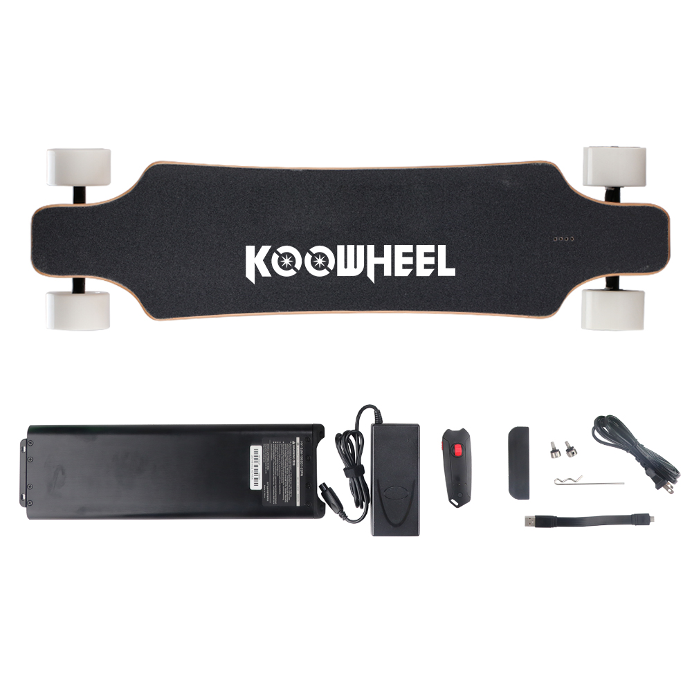 Koowheel Upgraded 2 Hub Motors Electric Skateboard 5500mAh Samsung 4 Wheel Electric Scooter Electricon Electric Longboard (5)
