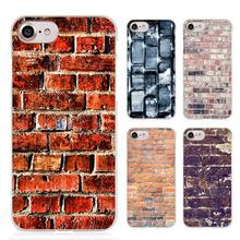 Brick pattern Clear Cell Phone Case Cover for Apple iPhone 4 4s 5 5s SE 5c 6 6s 7 Plus
