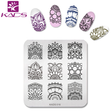 KADS New Elegant Flower Print Stencil Nail Art Stamping Plates Nail Templates Beauty Manicure Styling Tools(China)
