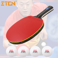 ZTON Table tennis racket Double pimples-in rubber Ping Pong Racket fast attack and loops or chop type player(China)