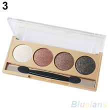 4 Colors Professional Makeup Cosmetic Palette Quad Smoky Shimmer Eye Shadow  4DYM 7GPH 8YTW