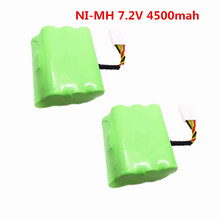 2 pcs 7.2v 4500mAh battery pack for Neato XV-21 XV-11 XV-14 XV-15 robot vacuum cleaner parts neato xv battery signature pro(China)
