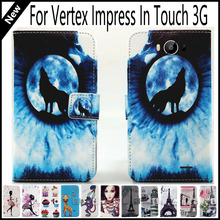 Hot Sale! For Vertex Impress In Touch 3G Wallet Card Slots Book Style Flip PU Leather Case Cover Phone Case Fashion