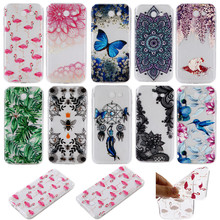 Epoxy Resin Varnishing Phone Case For Samsung Galaxy J3 J310 J320 Clear Soft TPU Cover Transparent Mobile Phone Shell