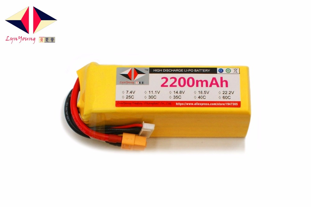 2200mAh 22.2V 40C 6s LYNYOUNG Lipo battery for Rechargeable RC Drones AKKU Airplane Quadcopter Boat Car 6 Axis Drone Tank