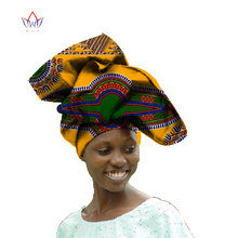 African Women Head Scarf Dashiki Women hair accessories Bazin Riche African Gele Head Tie Wrap Scarf Print Ankara Batik WYS17