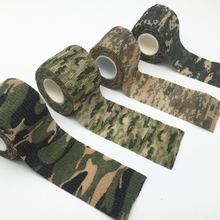 Hot Sale 5cmx4.5m Army Camo Outdoor Hunting Shooting Tool Camouflage Stealth Tape Waterproof Wrap Durable(China)