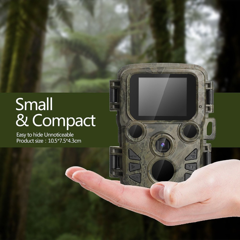 Mini Trail Camera Chasse 12MP 1080P Night Vision Hunting Game Camera Photo traps 0.45S Motion Activated Wildlife Scout Camera (5)