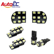 AutoEC 6pcs/set Car Led Interior lights lamp Bulbs Reading Lights decoration products accessories For chevrolet malibu #LDK28(China)