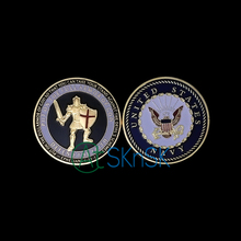 5pcs/lot Fashion army coins Marine Corps medals for collection United States Put on the Whole Armor Of God Challenge Coin 40*3mm
