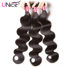UNice Hair Peruvian Body Wave Weave 100% Human Hair Bundles 8-30inch 1 Piece Can Be Mixed Natural Color Non Remy Hair Extension