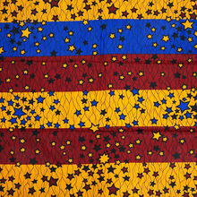 colorful stars african super real wax prints guaranteed quality 6yards veritable wax printed fabrics london design(China)