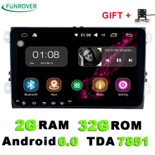 9 inch Android 6.0 Car DVD Player 2din Radio Gps Stereo Multimedia PC 2G+32G in dash for vw Skoda tiguan passat cc golf touran(China)