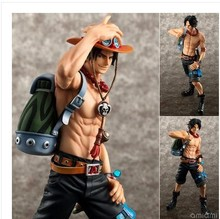 23cm Japanese Anime One Piece Action Figures One Piece Portgas D Ace Garage Kits Ten Year Special Edition Model