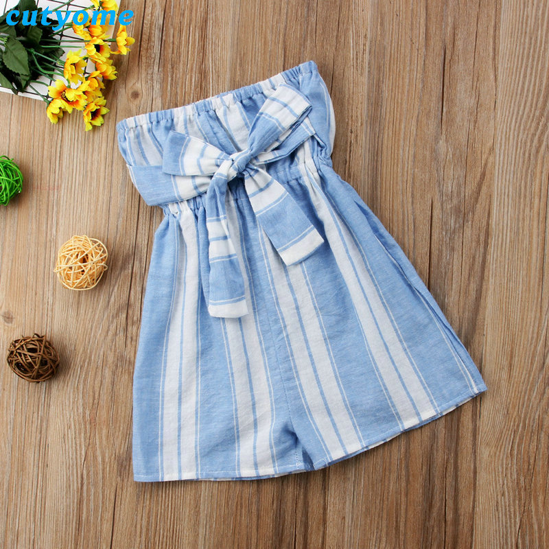Mother Women And Daughter Girl Matching Clothes Striped Overalls Dress One-pieces Jumpsuits For Mommy And Me Family Outfits (3)