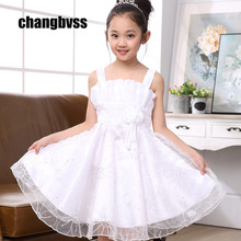 Free Shipping Girls Wedding Party Dresses Cheap,7 Color Infant Wedding Dress Lovely Girl,Children Party Dress Cute Girls Clothes