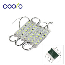 100PCS/lot 5050 6 LED Module lighting DC12V Waterproof  led modules,White / Warm white / Red / Green / Blue color