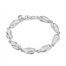 HOT! Link Friendship Silver Plated Bracelet New Designer Sliper Charms Bracelet Silver Jewelry Women Lady Girls Christmas Gifts(China)