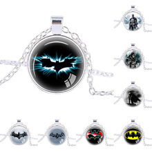Buy Fashion Jewelry Super Hero Batman Sign Pendants Necklaces Silver plated chain Men's Necklaces Bat necklace handmade pendant for $2.80 in AliExpress store