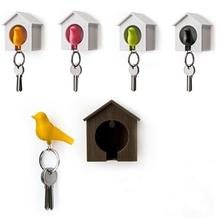 Creative Bird&House Designed Nest Key Holder Ring Keychain Keyring Set(China)