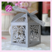 100pcs/lot free shipping very hotlaser cut Bird Cage wedding favor gift boxes candy box , for guests wedding door gifts box(China)