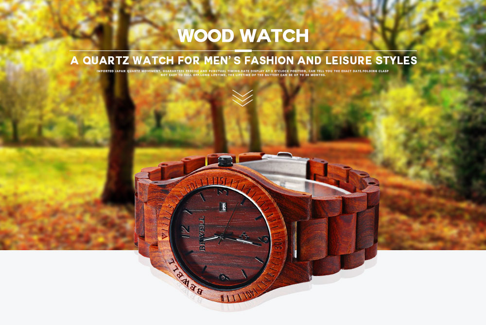2017 BigBen Bewell Luxury Brand Wood Watch Men Analog Natural Quartz Movement Date Male Wristwatches Clock Relogio Masculino (7)