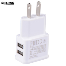 US Universal Dual USB USA Wall Charger Adapter 5V 2A 2 Ports Us Plug Travel Charger For iPhone 4 5 6 iPad Samsung Hot Selling