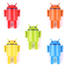 Universal Lovely Robot Traval USB Charger Mobile Phone Adapter USA Plug For Lenovo iPhone Samsung Galaxy Sony LG Nokia Cellphone