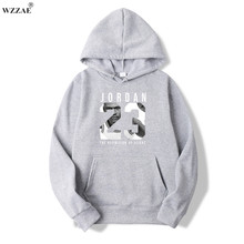 WZZAE 2017 Brand New Fashion JORDAN 23 Men Sportswear Print Men Hoodies Pullover Hip Hop Mens tracksuit Sweatshirts Clothing(China)