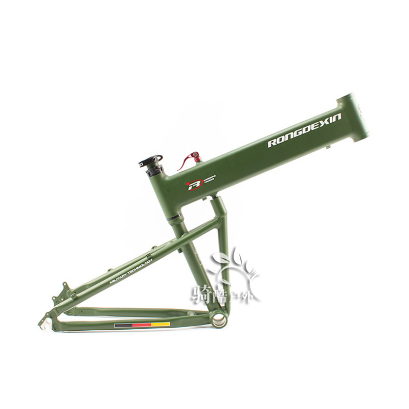 BMX folding frame 26/27.5/29 inch folding mountain bike frame portable Hummer folding frame(China)