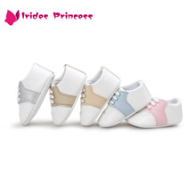 Baby Toddler Moccasins Infant Anti-slip PU Leather First Walker Soft Soled Newborn Sneakers Branded Baby Shoes(China)