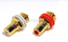 2pcs USA CMC 816-U Oxygen Free Copper With 24K Gold Audio Amplifier RCA Lotus Connector Signal Female Jack(China)