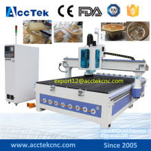 Vacuum table atc cnc router 1325 2030 / automatic tool change cnc router for wooden door