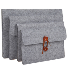 10-15inch Sleeve Case Bag Wool Felt Inner Notebook Laptop Sleeve Bag Case Carrying Handle Bag For iPad Macbook Pro/Air Samsung