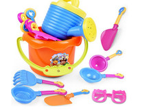 9Pcs Kids Sand Playing Tool Beach Toys Set Summer Plastic Outdoor Beach Bucket Shovel Sunglasses Tools Gift For Kids