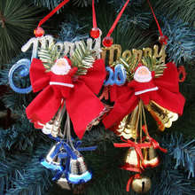 1 pcs Santa Claus bell Merry Christmas decorations products Christmas bell ornaments New Year gifts shop door pendant(China)