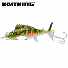 KastKing Fishing Lures Single Hook 3D Eyes 1PC 20.3g 103mm Sinking Lure Spinner Spoon Bait Sealure 5 Colors Crankbait Baits(United States)