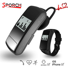 F50 Smart Band Bluetooth Headset Wristband Heart Rate Monitor Earphone SmartWatch Bracelet Sport Watch Smartband For IOS Android