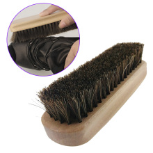 Professional Wooden Handle Shoes Shine Brush Polish Bristle Horse Hair Buffing Brush TB Sale(China)