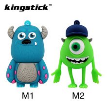 Smile cow monster 4GB 8GB 16GB usb flash drive silicone pendrive 32GB 64GB U disk memory stick Pen drive free shipping(China)