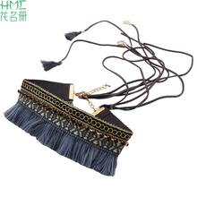 New Arriva Hot Selling Beads Necklace Trendy Boho Tassel Lady Clavicle Chain Jewelry Supplies(China)