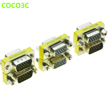 15pin VGA Female To Male Convertor Monitor DB15 Female to Female VGA RGB HDB Extender Male to Male Connector