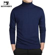 Kenntrice Turtleneck Sweaters Men Solid Long Sleeve Pullovers Men Sweater Knitwear Jumpers Jersey Hombre Cheap Winter Sweaters(China)