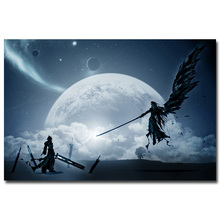 Sephiroth VS Cloud Final Fantasy XV Art Silk Fabric Poster Print 13x20 24x36 inch Game Pictures for Living Room Wall Decora 030