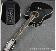 OEM 41 inch acoustic guitar+EQ  pick-up wholesale electrical box specialized in playing guitar Blue, wood color, black, white