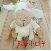 25cm Super cute NICI sheep Fine plush toys multi-color flower pocket sheep deer sheep for birthday gift 1pcs/lot(China)