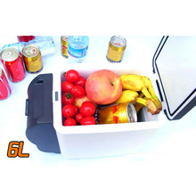 6L 12V Mini Car Refrigerator Heat Fridge Portable Warming and Cooling Vehicle Refrigerator Cooler Warmer Truck Car And Home Use