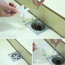 Kitchen Sewer Tub Hair Clean Tool Chain Drain Cleaner Floor Wig Cleaning Removal Anti Clogging Tools(China)